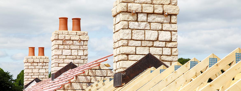 Haus bekommt neues Dach